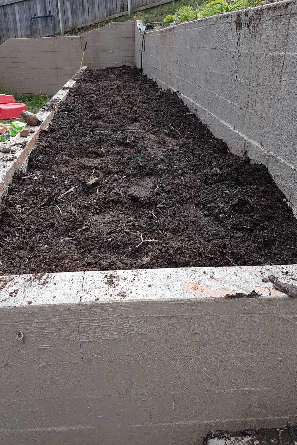 photo of soil bed